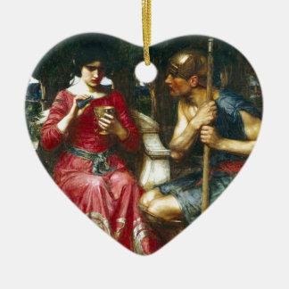 Jason y Medea del Waterhouse de Juan Adorno Navideño De Cerámica En Forma De Corazón