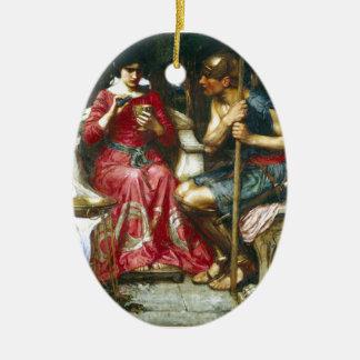 Jason y Medea del Waterhouse de Juan Adorno Navideño Ovalado De Cerámica