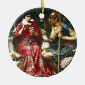Jason y Medea del Waterhouse de Juan Adorno Navideño Redondo De Cerámica