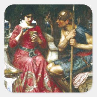 Jason y Medea del Waterhouse de Juan Pegatina Cuadrada