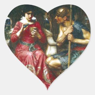 Jason y Medea del Waterhouse de Juan Pegatina En Forma De Corazón