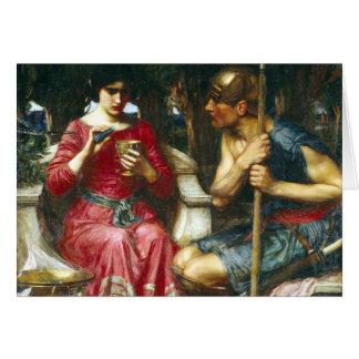 Jason y Medea del Waterhouse de Juan Tarjeta De Felicitación