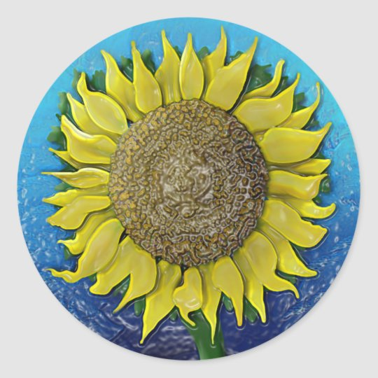 Jason's Sunflower Classic Round Sticker