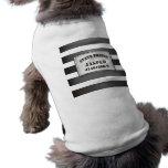 Jaspe - camiseta de la camiseta de la prisión del  playera sin mangas para perro