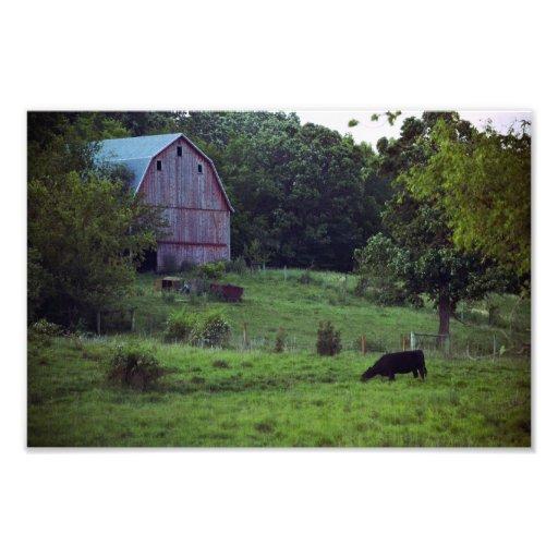 Jaspe Co., escena del granero de Iowa Foto