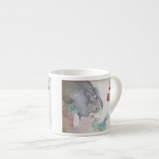 Jaspe la taza del café express del conejito taza espresso