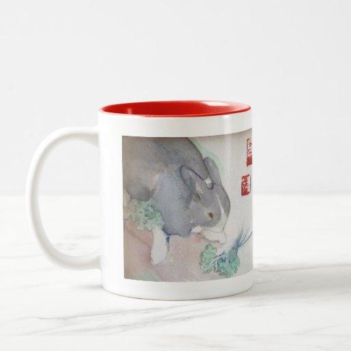 Jaspe la taza del Dos-tono del conejito