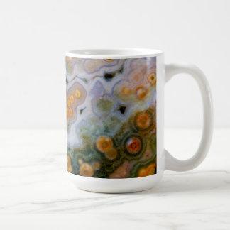 Jaspe manchado del océano taza de café