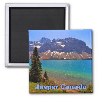 Jasper Alberta Canada 2 Inch Square Magnet