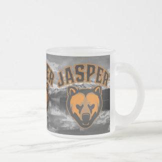 Jasper Bear Face Logo Frosted Glass Coffee Mug