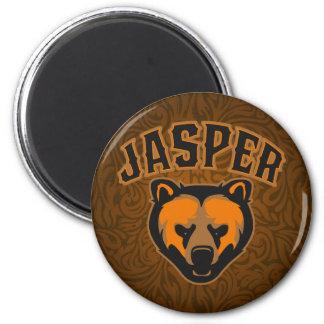Jasper Bear Face Logo Magnet
