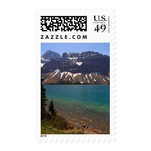 Jasper Canada Lakes Mountains Postage