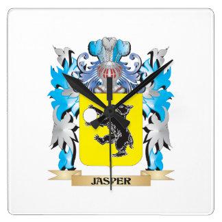 Jasper Coat of Arms - Family Crest Clocks