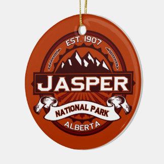 Jasper Crimson Ceramic Ornament