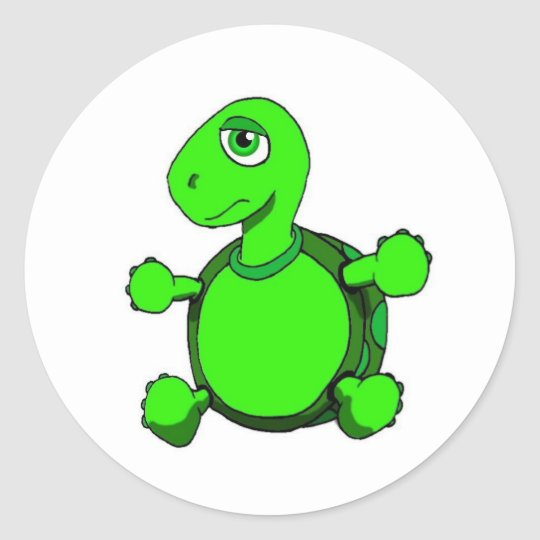 Jasper E Turtle Classic Round Sticker