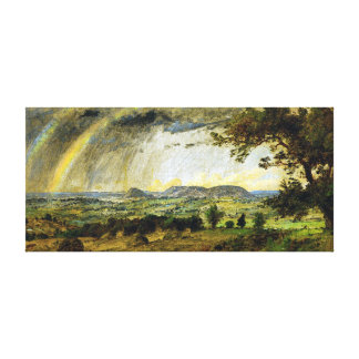 Jasper Francis Cropsey A Passing Shower Canvas Print