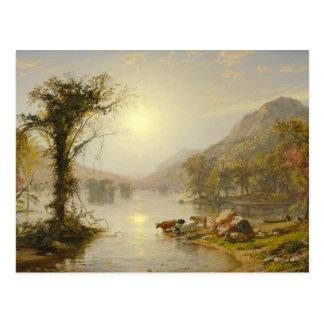Jasper Francis Cropsey - Autumn on Greenwood Lake Postcard