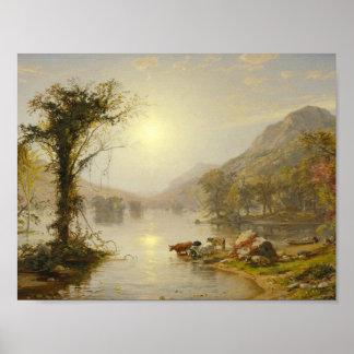Jasper Francis Cropsey - Autumn on Greenwood Lake Poster