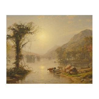Jasper Francis Cropsey - Autumn on Greenwood Lake Wood Print