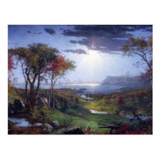 Jasper Francis Cropsey - Autumn - On the Hudson Ri Postcard