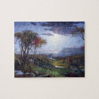 Jasper Francis Cropsey - Autumn - On the Hudson Ri Puzzle