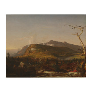 Jasper Francis Cropsey - Catskill Mountain House Wood Print