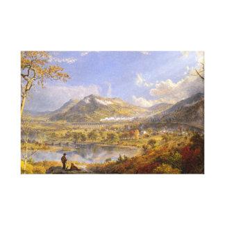 Jasper Francis Cropsey - Starrucca Viaduct Canvas Print