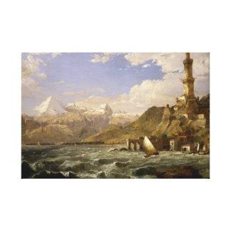 Jasper Francis Cropsey - The Coast of Genoa Canvas Print