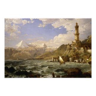 Jasper Francis Cropsey - The Coast of Genoa Photo Print