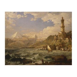 Jasper Francis Cropsey - The Coast of Genoa Wood Print