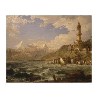 Jasper Francis Cropsey - The Coast of Genoa Wood Wall Decor