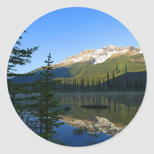 Jasper Lakes Reflections National Park Classic Round Sticker