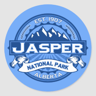 Jasper Logo Cobalt Classic Round Sticker