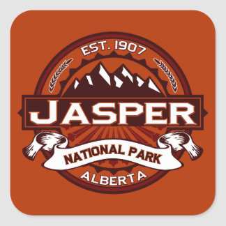 Jasper Logo Crimson Square Sticker