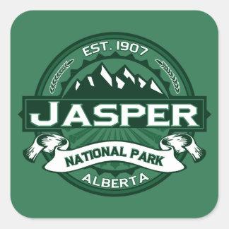 Jasper Logo Forest Square Sticker