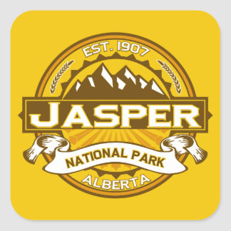 Jasper Logo Goldenrod Square Sticker