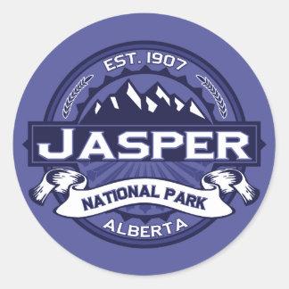 Jasper Logo Midnight Classic Round Sticker