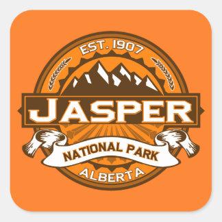 Jasper Logo Pumpkin Square Sticker