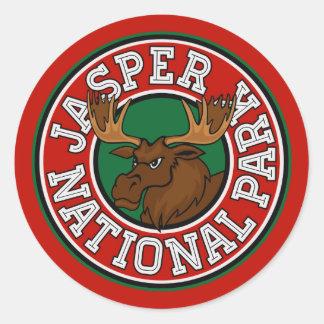 Jasper Moose Circle Classic Round Sticker