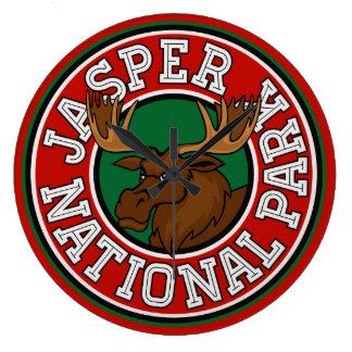 Jasper Moose Circle Round Wall Clock
