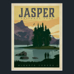 "Jasper National Park, Alberta Canada Postcard<br><div class=""desc"">Anderson Design Group is an award-winning illustration and design firm in Nashville,  Tennessee. Founder Joel Anderson directs a team of talented artists to create original poster art that looks like classic vintage advertising prints from the 1920s to the 1960s.</div>"