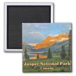 Jasper National Park Canada 2 Inch Square Magnet
