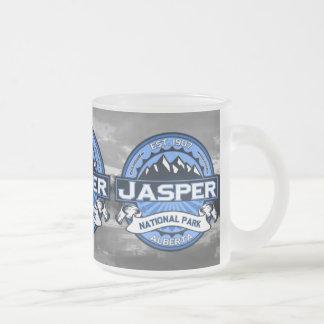 Jasper National Park Logo Frosted Glass Coffee Mug
