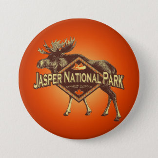 Jasper National Park Moose Button