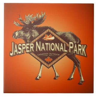 Jasper National Park Moose Ceramic Tile
