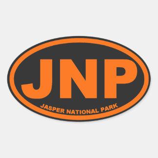 Jasper National Park Oval Sticker