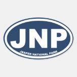Jasper National Park Oval Stickers