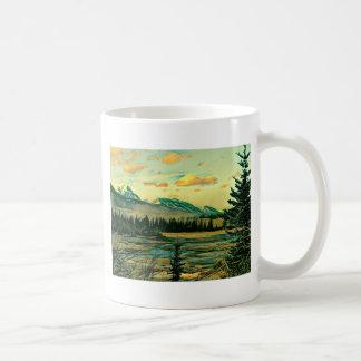 Jasper National Park River with mountain view Coffee Mug