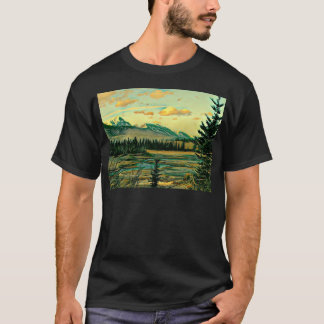 Jasper National Park River with mountain view T-Shirt