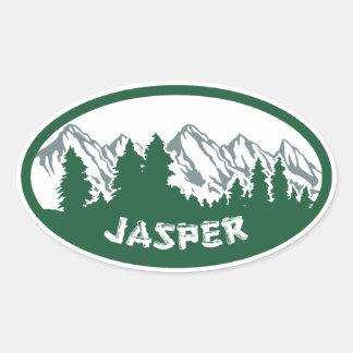 Jasper Natl Park Panorama Oval Sticker